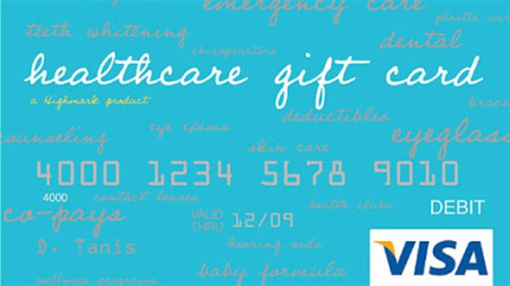 "New gift card from Highmark ""Health care gift card"" from Highmark."