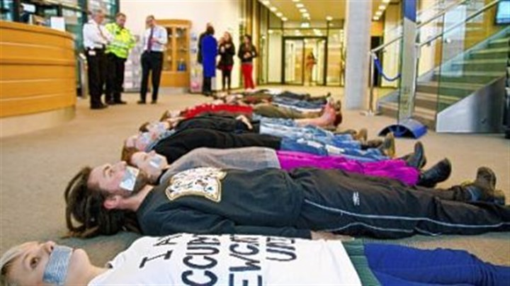 Newcastle Occupied: A very silent protest at Newcastle University