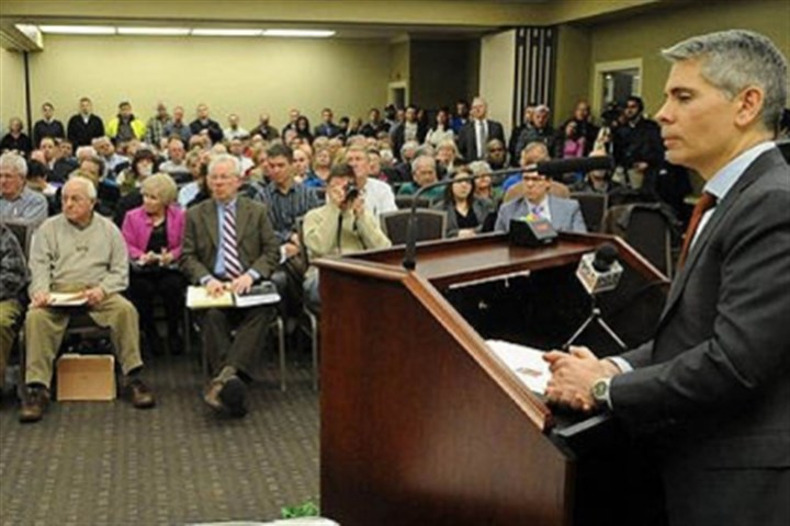 Nick J. Deluliis Consol Energy President Nick J. Deluliis speaks at a public meeting at which Allegheny County Executive Rich Fitzgerald announced legislation for a contract between the Allegheny County Airport Authority and the company.