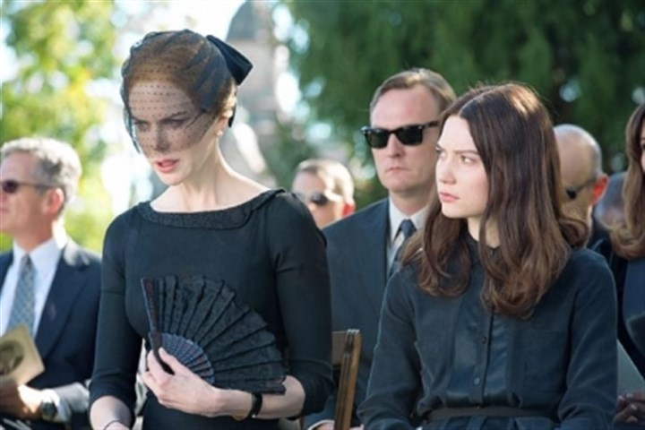 "Nicole Kidman and Mia Wasikowska Nicole Kidman as Evie and Mia Wasikowska as India in ""Stoker."""