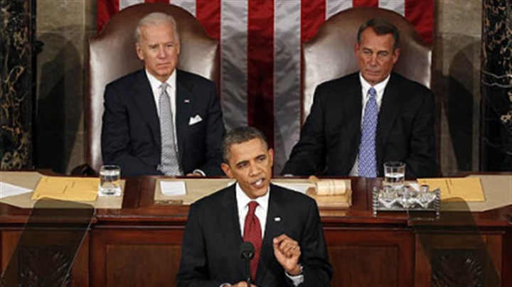 Obama at State of the Union address President Barack Obama giving his State of the Union address Tuesday. He endorsed the nation's shale gas development. He also called for companies to disclose the chemicals used in the hydraulic fracturing stage of the drilling process.