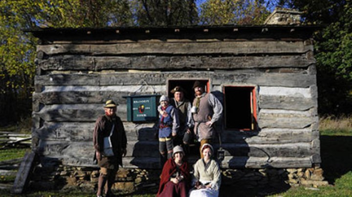 October October: Reenactors at the Bloody Dirt Tavern at the Enock Wright House in Peters.