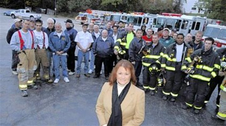 On a mission Penn Hills Deputy Mayor Sara Kuhn with members and trucks from all seven fire companies.