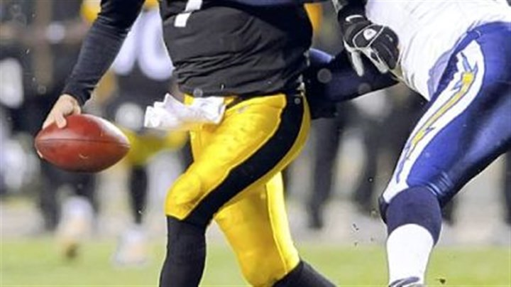 On the field Ben Roethlisberger was sacked four times by the Chargers in the Steelers' 11-10 win in Week 11.