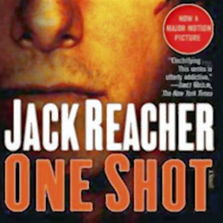 "'One Shot' Lee Child's book ""One Shot"" is being reissued with a new cover featuring Tom Cruise."