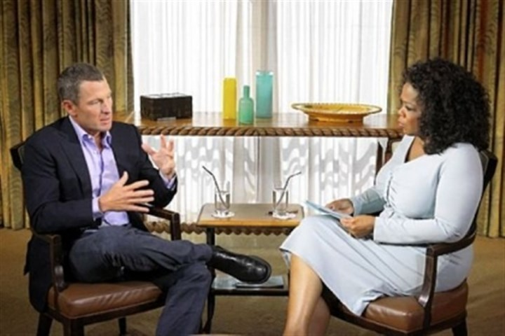oprah Lance confesses (almost) all to Oprah on Tuesday.