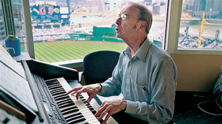 Organist Vince Lascheid In this file photo, organist Vince Lascheid plays during the Pirates 2001 home opener at PNC Park.