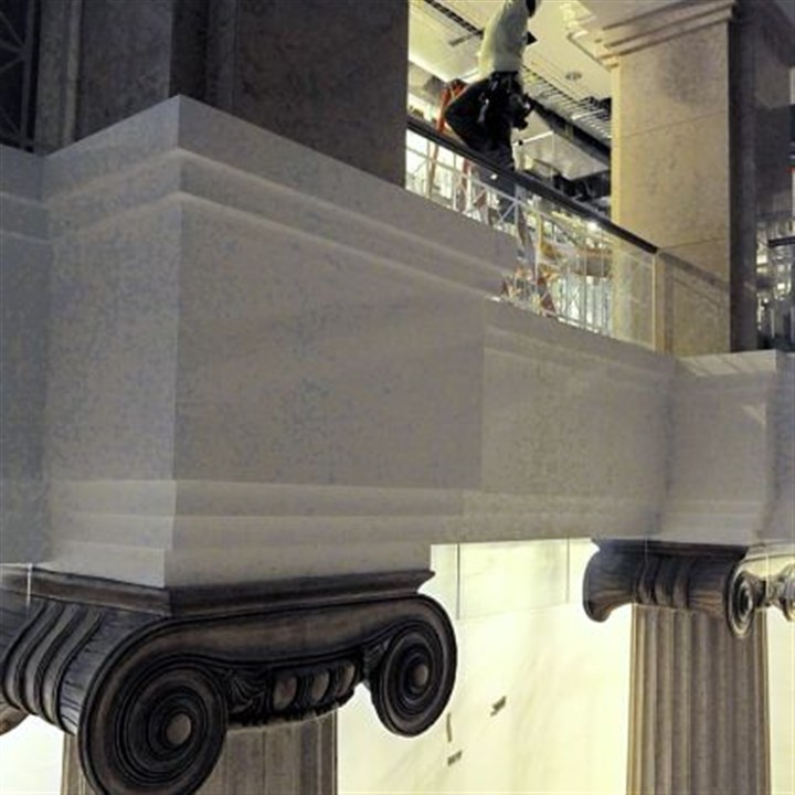 original marble PNC plans to incorporate the original marble, brass and bronze that adorned the bank in its glory days.
