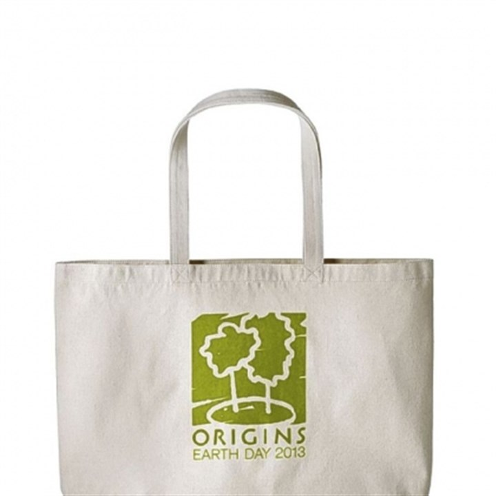 Origins bag One of four limited edition tote bags shoppers can receive through April 28 with any Origins purchase of at least $55.