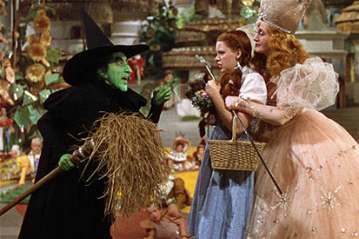 "Oz in three dimensional Margaret Hamilton, Judy Garland and Billie Burke star in ""The Wizard of Oz 3D."""
