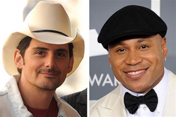 Paisley and Cool Brad Paisley, left, and LL Cool J.