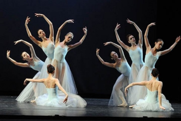"PBT in 'Serenade' Pittsburgh Ballet Theatre performs ""Serenade"" by George Balanchine, part of a triple bill called ""Unspoken,"" at the August Wilson Center, Downtown."
