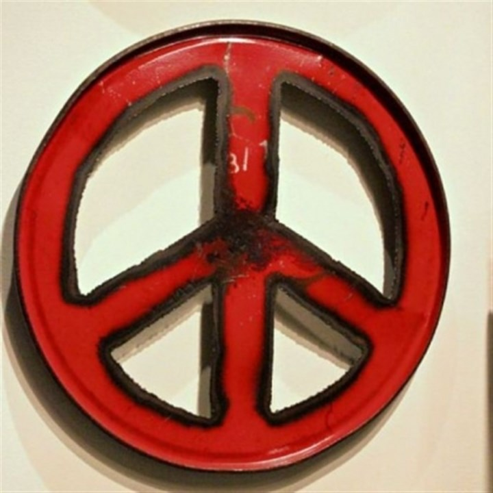 Peace wall art Peace wall art from the Moonshine Collection by Groovystuff, made from recycled steel drums.