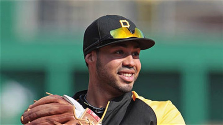 Pedro Alvarez Pirates third baseman Pedro Alvarez warms up prior to Thursday's game at PNC Park.