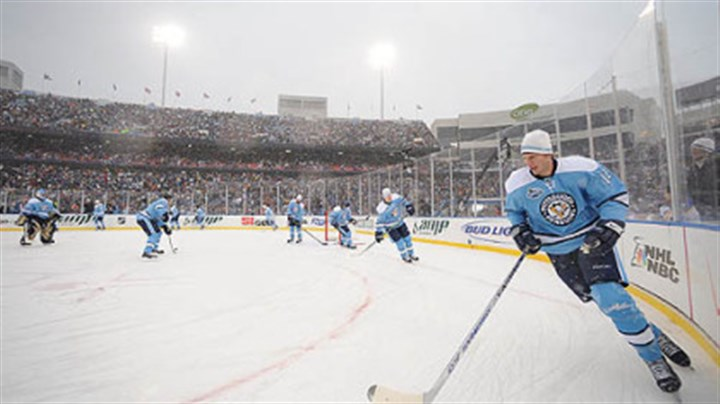 Penguins The Penguins took part in the 2008 Winter Classic in Orchard Park, N.Y.