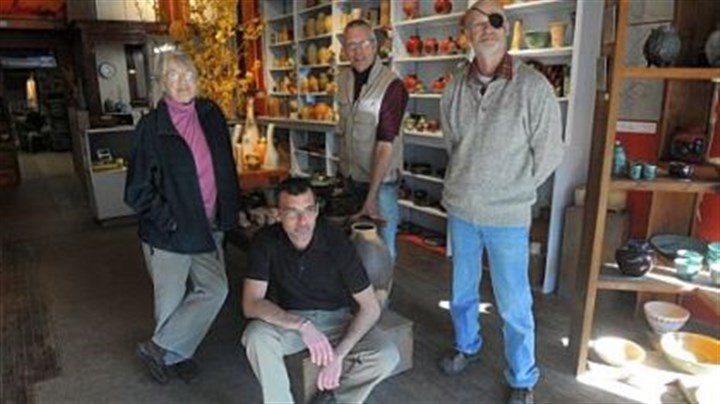 Penn Avenue Pottery owners From left: Penn Avenue Pottery owners Valda Cox, Matthias Bodnar, Gary Pletsch and Mike Gwaltney.