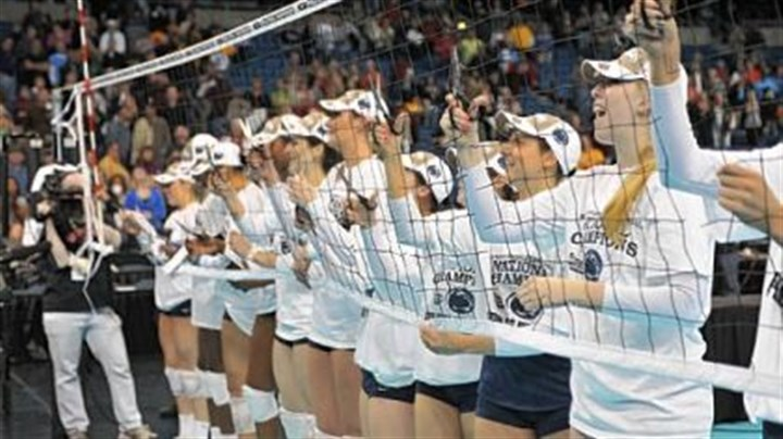 Penn State Penn State's women's volleyball team cuts down the net after defeating Texas for the NCAA title in Tampa, Fla., in December.