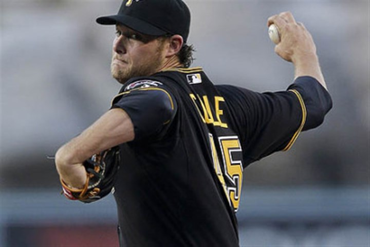 Pirates pitcher Gerrit Cole Pirates pitcher Gerrit Cole makes his third career start Friday against the Los Angeles Angels in Anaheim, Calif.