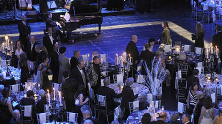 "Pittsburgh Opera Maecenas XXV Soprano Danielle Pastin sings an aria as people are seated for dinner at the Pittsburgh Opera's 25th anniversary gala, ""Maecenas XXV."""