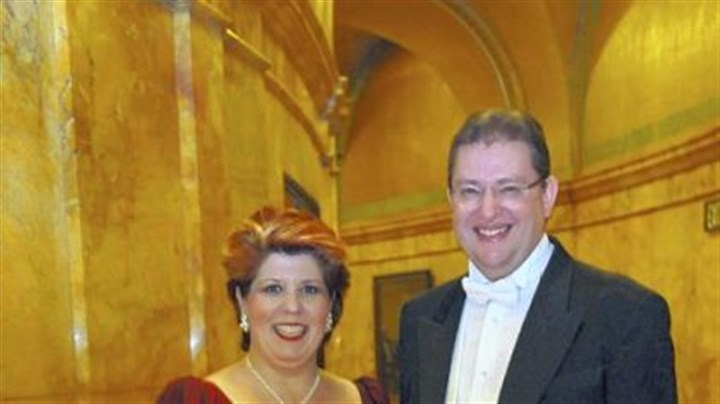 Pittsburgh Opera's Auld Land Syne New Year's Eve Mezzo-soprano Marianne Cornetti and music director Anthony Walker.