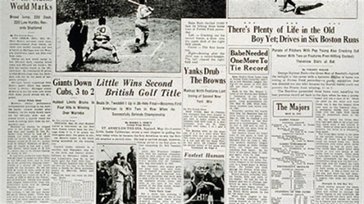 Pittsburgh Press Sports page of the Pittsburgh Press on Sunday, May 26, 1935.