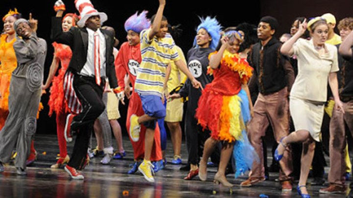 "Pittsburgh Schenley Pittsburgh Schenley students perform ""Seussical,"" which won the best musical budget level one at the Gene Kelly Awards for Excellence in High School Musical Theater."