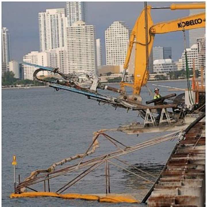 PortMiami Workers continue work on the 7-foot wharf expansion at PortMiami.