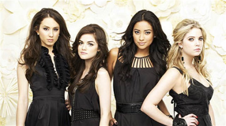 """Pretty Little Liars"" From left, Troian Bellisario, Lucy Hale, Shay Mitchell and Ashley Benson."