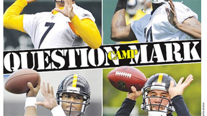 Question Mark Clockwise from, top left, Roethlisberger, Dixon, Batch and Leftwich.