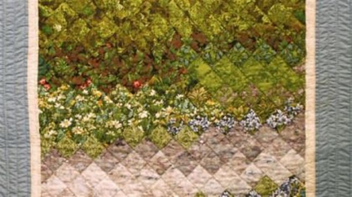 "Quilt Quilt titled ""A Resting Place,"" by Kate Fetterman, is part of a show at the Allegheny Cancer Center Saturday."