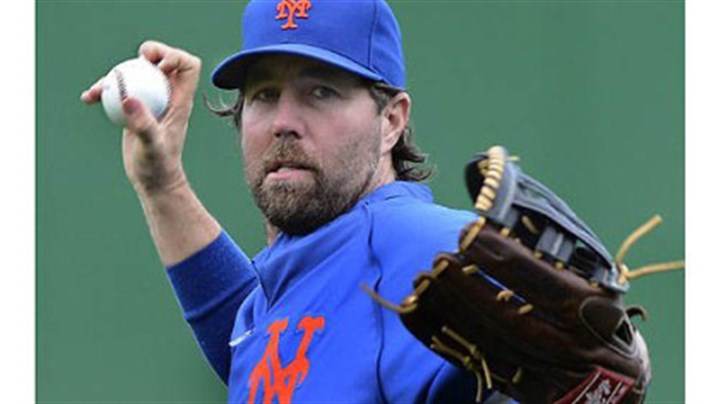 R.A. Dickey Mets pitcher R.A. Dickey during afternoon workouts Monday.