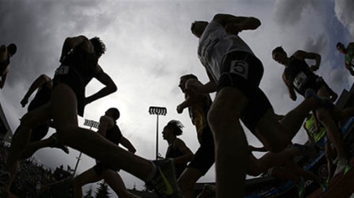 Racers compete Racers compete in the men's 1500 meter semi-finals at the U.S. Olympic Track and Field Trials Friday in Eugene, Ore.