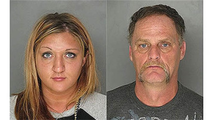Rachel George and Christopher George mugshots Rachel George and Christopher George mugshots