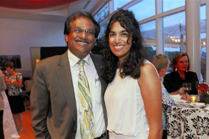 Ram Ramalingam and daughter Nithya Ram Ramalingam and his daughter Nithya