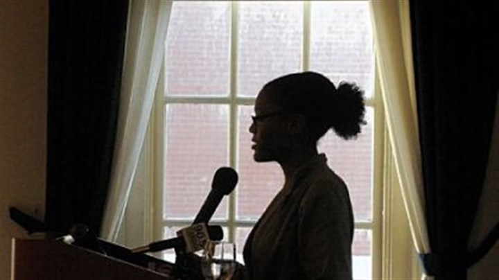 randerson1 Ronnell Anderson, a Slippery Rock University junior, spoke at Point Park University on Thursday during the Pittsburgh Child Guidance Foundation's release of a report on its 10-year initiative to advocate for children of prisoners.