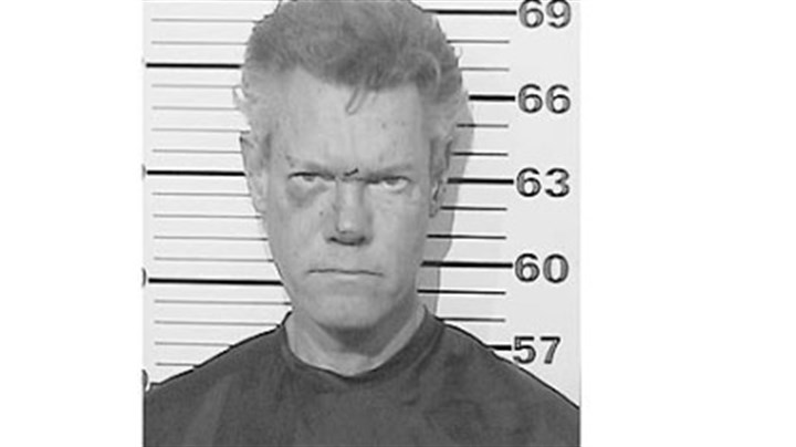 Randy Travis' mug shot Randy Travis' mug shot