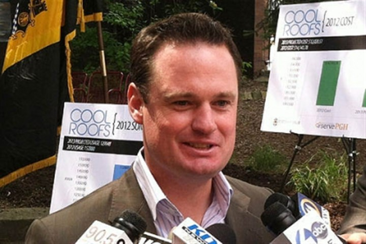 ravenstahl speaks some more Pittsburgh Mayor Luke Ravenstahl speaks with reporters after a press conference today.