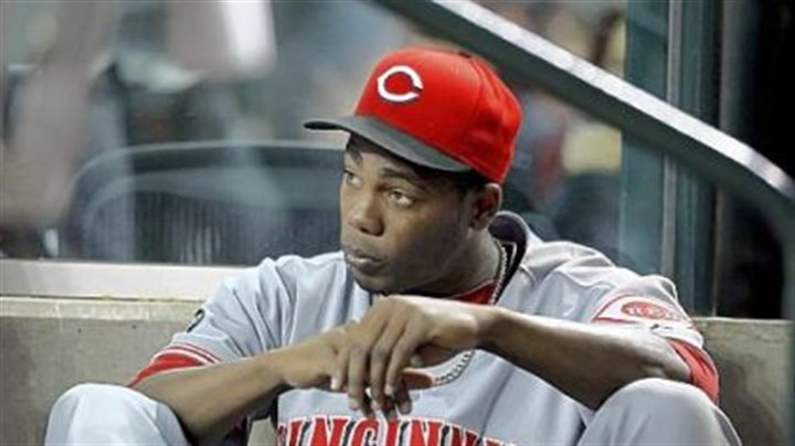 Reds pitcher Aroldis Chapman Cincinnati Reds pitcher Aroldis Chapman was at PNC Park on Tuesday night when a woman who was staying with him reported a robbery at his hotel room.