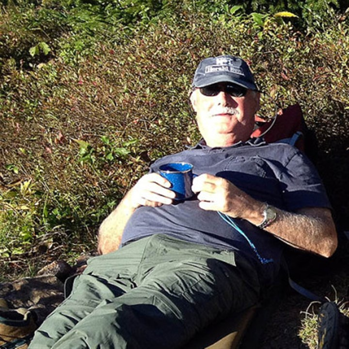 Reg at rest Reg resting and relaxing at Dolly Sods.