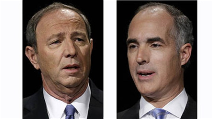 Republican challenger Tom Smith and Democratic Sen. Bob Casey Republican challenger Tom Smith and Democratic Sen. Bob Casey