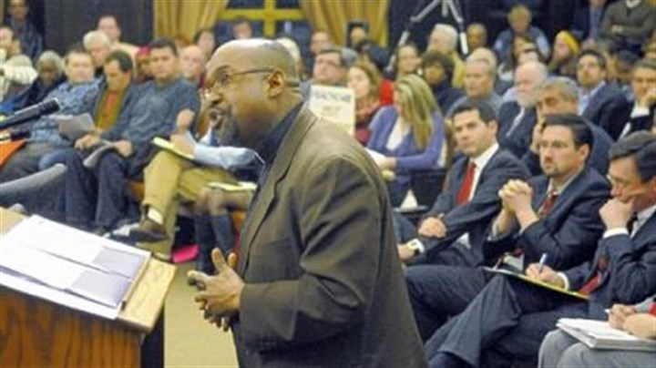 Rev. David Thornton The Rev. David Thornton of Grace Memorial Presbyterian Church in the Hill District testified at county council's hearing.