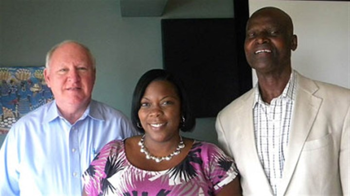 Rev. James Moran, Tamiko Stanley, and Dr. Leon D. Pamphile Rev. James Moran, Tamiko Stanley, and Dr. Leon D. Pamphile.