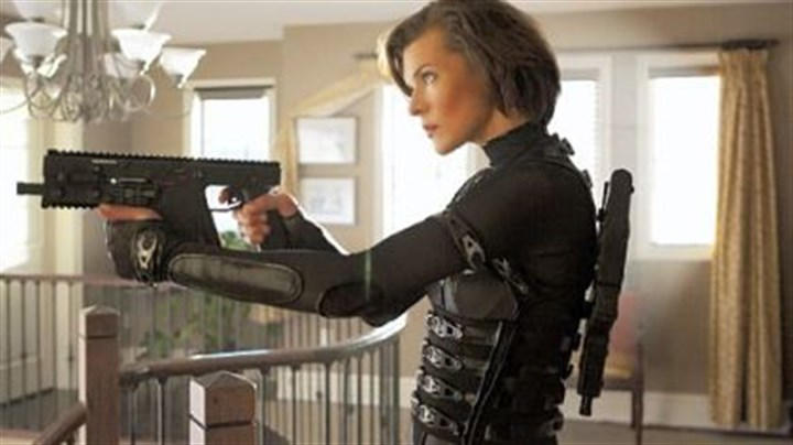 "Review: 'Resident Evil' Milla Jovovich is back as Alice in ""Resident Evil: Retribution."""