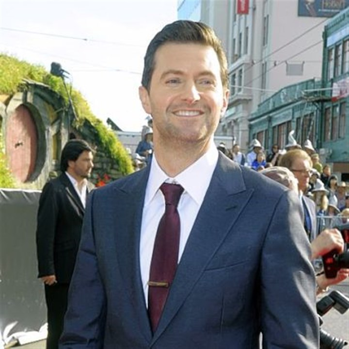 "Richard Armitage Cast member Richard Armitage poses on the red carpet at the premiere of ""The Hobbit: An Unexpected Journey,"" at the Embassy Theatre, in Wellington, New Zealand, Wednesday, Nov. 28, 2012."