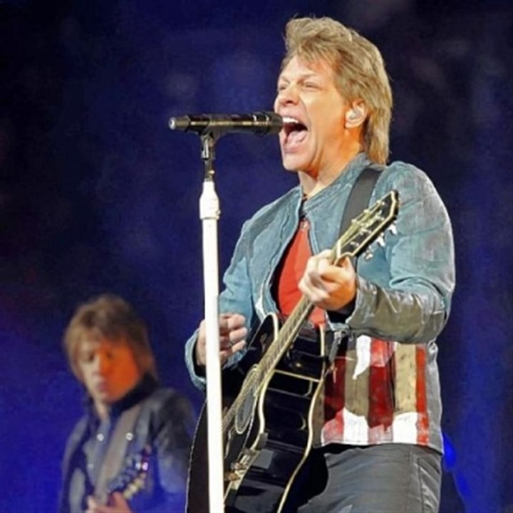 "Richie Sambora, left, and Jon Bon Jovi Richie Sambora, left, and Jon Bon Jovi perform ""Lost Highway"" at Bon Jovi's concert Thursday night at Consol Energy Center."
