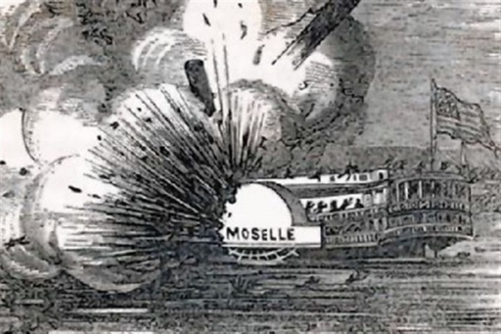 riverboat Moselle near Cincinnati The explosion of the riverboat Moselle near Cincinnati led to the first federal regulation of private industry, the 1838 Steamboat Act.