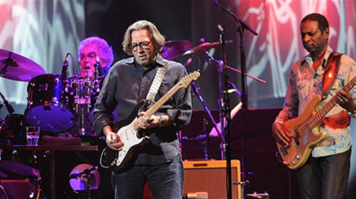 Rocking the Arena Eric Clapton on stage at Mellon Arena.