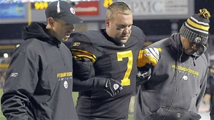 Roethlisberger injury Steelers quarterback Ben Roethlisberger is helped off the field after being injured against Cleveland Dec. 8.