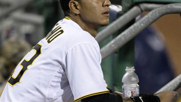 Ronny Cedeno Pirates shortstop Ronny Cedeno watches the final out.