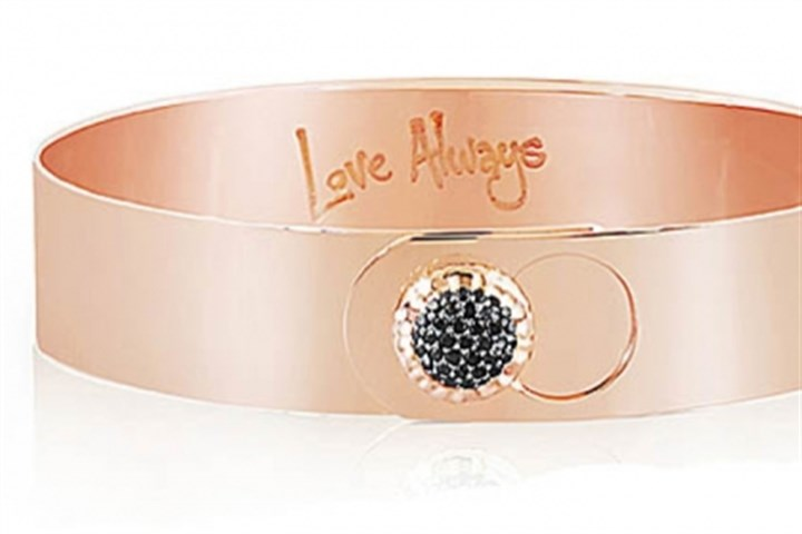 Rose gold bracelet Rose gold and black diamond Love Always bracelet, $3,850.